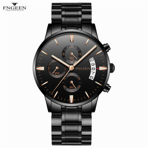 Fashion Quartz Watch Men Top Brand Luxury Watch Automatic Date - Shopatronics