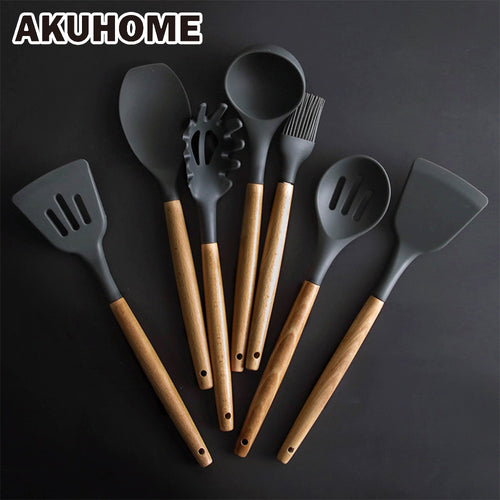 Silicone Spatula Heat-resistant Soup Spoon Non-stick Special Cooking Tools