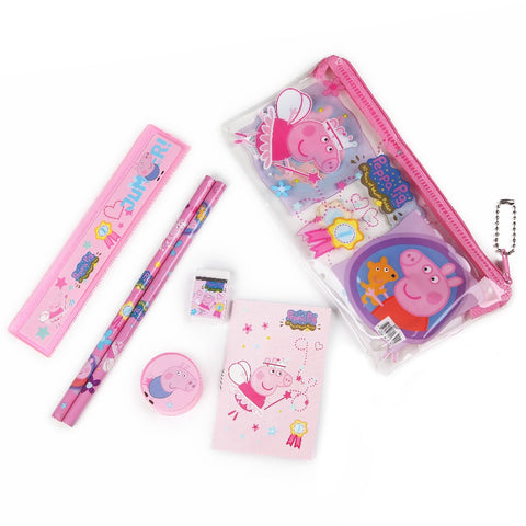 6PCS Stationery Sets Pencil Case For Children Ruler Eraser Party decoration Supplies For Kids - Shopatronics - One Stop Shop. Find the Best Selling Products Online Today