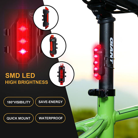 5LED Bicycle Light USB MTB Road Bike Tail Light Rechargeable Free 2-7 Day Shipping - Shopatronics - One Stop Shop. Find the Best Selling Products Online Today