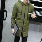 2018 Winter Jacket men hooded Slim long Jacket coat - Shopatronics - One Stop Shop. Find the Best Selling Products Online Today