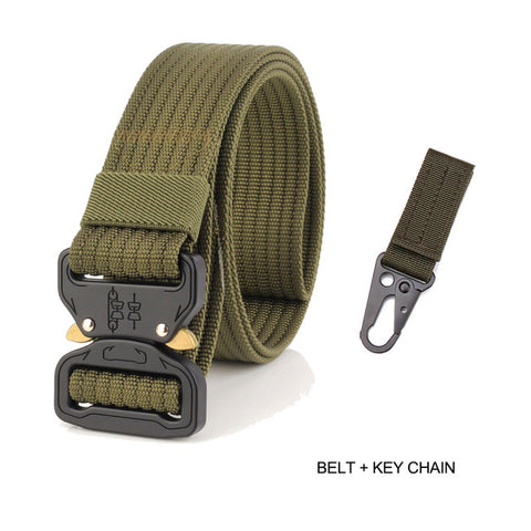 New Cobra Buckle Tactical Belt 3.5cm High Quality Nylon 125cm Casual Braided Belt For Men And Women
