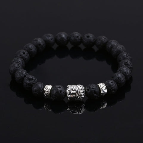 Natural Stone Bead Buddha Bracelets For Women and Men