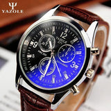New listing Yazole Men watch Luxury Brand Watches Quartz Clock Fashion Leather belts Watch Cheap Sports wristwatch relogio male - Shopatronics