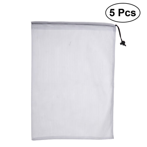 5pcs Premium Reusable Grocery Bags with Drawstring