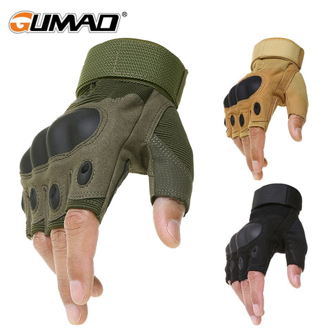 Outdoor Tactical Fingerless Gloves Military Army Hiking Hunting Climbing Cycling Gloves