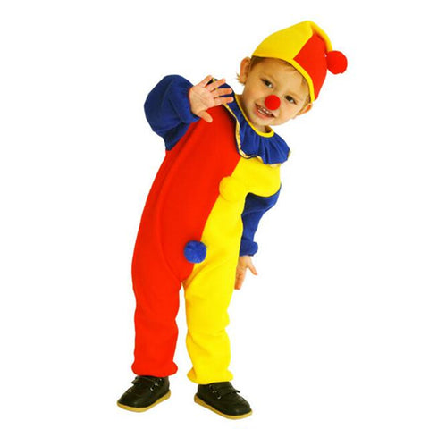 Children Baby Jumpsuits & Rompers+Hat+Nose Halloween Carnival Amazing Clown