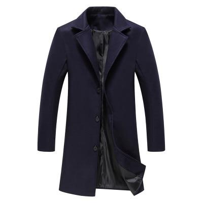 Men Long Trench Coat - SHOPPLEHUB