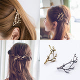 Elegant Metal Tree Branch Hair Pins Hair Clips For Women - Shopatronics