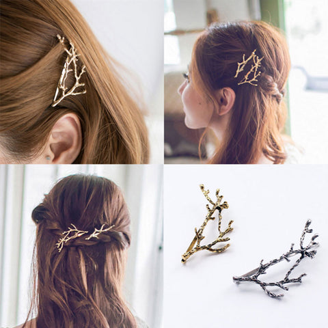 Elegant Metal Tree Branch Hair Pins Hair Clips For Women