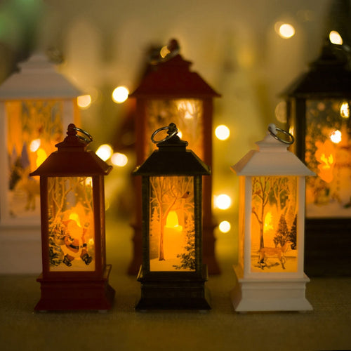 Windproof Candle Holder Ornaments Christmas Lights Candlestick Home Decor