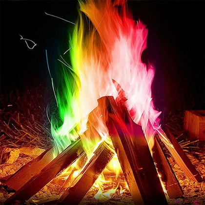 10g/15g/25g Magic Fire Colorful Flames Powder Bonfire Sachets Outdoor Camping