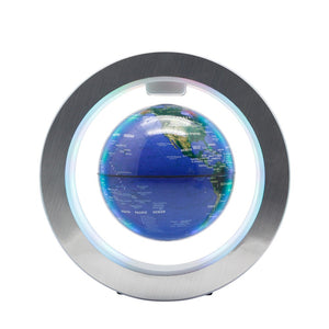 "Magnetic Floating Globe 6"" Levitation Rotating Ball with LED Lights"