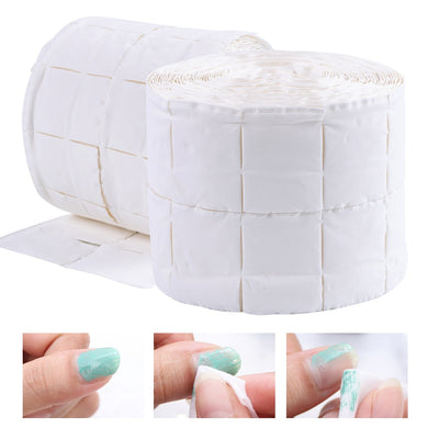 500pcs/roll Nail Cotton Wipes UV Gel Nail Tips Polish Remover Cleaner