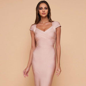 Bold Lady Bandage Dress - SHOPPLEHUB