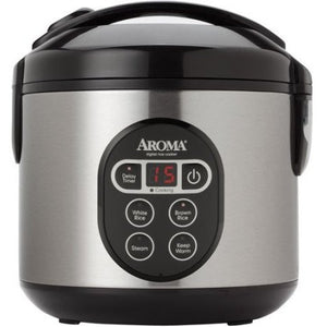 Aroma 8-Cup Digital Rice Cooker and Food Steamer - Shopatronics