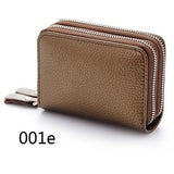 New Fashion Genuine Leather Women Card Holder Wallet High Capacity Credit Card Holders For Female Coin Purses Pillow Card Purse - Shopatronics