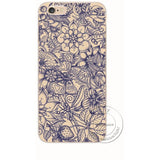 Shell For Apple iPhone 5 5S 5C 6 6S Plus 6SPlus Back Case Cover Printing Mandala Flower Datura Floral Cell Phone Cases - Shopatronics