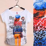Top Selling Womens Clothes Fashion Vintage Spring Summer Short Sleeve Animal Printed Girls Cotton Female Women T-shirt - Shopatronics