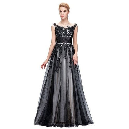 Elegant Long Evening Dress 2016 Grace Karin Beaded Tulle Mother Of The Bride Dresses Vestidos Formal Gowns Robe Soiree GK000061 - Shopatronics