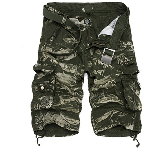 Plus 29-40 Cargo Shorts Men Camouflage Summer Hot Sale Cotton Casual Men Short Pants Camo Clothing Fashion Men Cargo Shorts - Shopatronics