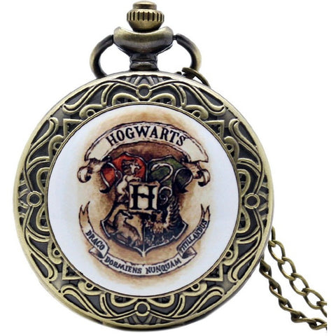 Retro Shield Harry Potter Hogwarts School of Witchcraft and Wizardry Bronze Pocket Watch Men Women Children Watches - Shopatronics - One Stop Shop. Find the Best Selling Products Online Today