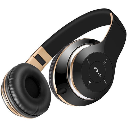 Sound Intone BT-09 Bluetooth Headphones Wireless Stereo Headsets with Mic Support TF Card FM Radio for iPhone Samsung and Calls - Shopatronics