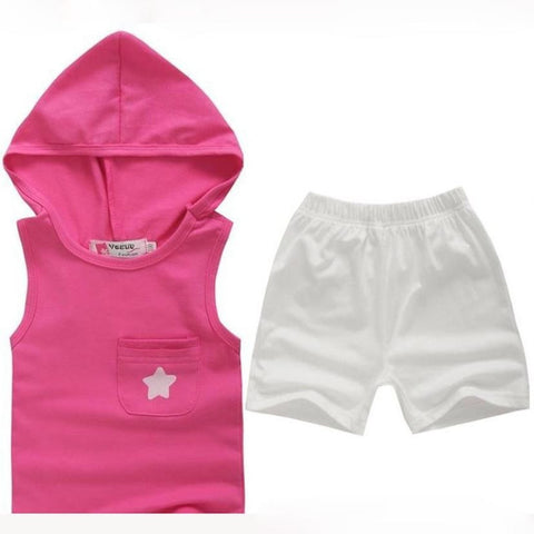 Summer Five-star Hoodie Cotton Baby clothes Tops+Pants Outfits Set Clothing Suit All for Kids Clothing and accessories for 1-6Y - Shopatronics