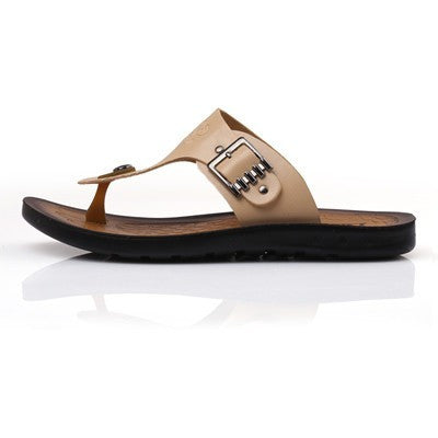 New Men Flip Flops 2016 Summer Slip-on Men sandals Soft Leather Casual Summer Beach Shoes Man - Shopatronics