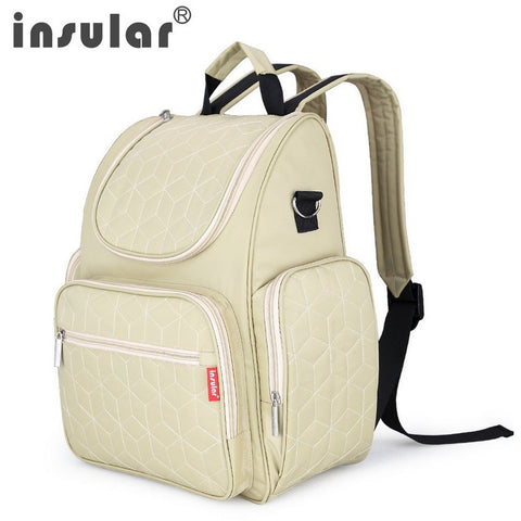 New Arrival Elegant Baby Diaper Backpacks Nappy Bags Multifunctional Changing Bags For Mommy - Shopatronics