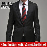 Men's Business Suit men's blazer man pants slim fit white suits quality suit set XXXL - Shopatronics