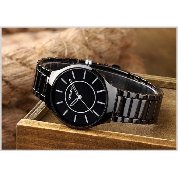 SINOBI ultra slim Top Brand Men's Boy Military Dress JAPAN Quartz Steel Watches Casual Clock Wristwatch Relogio Masculino Male - Shopatronics