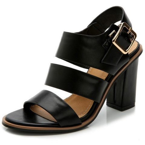2016 Women Sandals Spring/Summer Style Fashion Shoes High Heels Black Sandalias Female Gladiator Casual Women Shoes Square Heels - Shopatronics - One Stop Shop. Find the Best Selling Products Online Today