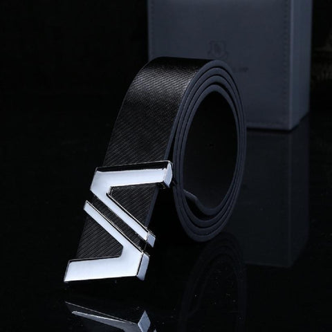 Free Men/Women Automatic Letter Buckle Leather Waist Strap Belts Buckle Belt - Shopatronics - One Stop Shop. Find the Best Selling Products Online Today