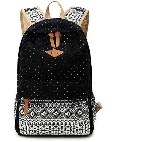 Vintage Girl School Bags For Teenagers Cute Dot Printing Canvas Women Backpack Mochila Feminina Casual Bag School Backpack - Shopatronics - One Stop Shop. Find the Best Selling Products Online Today