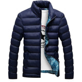 Newest Mens Brand Solid Winter thick cotton Jacket Men Stand Collar Fashion Quality Parka Men Overcoat - Shopatronics - One Stop Shop. Find the Best Selling Products Online Today