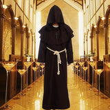 1pc Medieval Costume Man Vintage Renaissance Monk Cosplay Cowl Friar Priest Hooded Robe - Shopatronics - One Stop Shop. Find the Best Selling Products Online Today