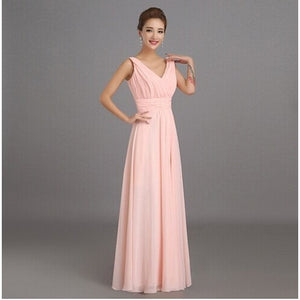 Peachy Pink Bridesmaid Dress Long Chiffon Wedding Party Prom Dresses - Shopatronics - One Stop Shop. Find the Best Selling Products Online Today