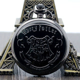Retro Shield Harry Potter Hogwarts School of Witchcraft and Wizardry Bronze Pocket Watch Men Women Children Watches - Shopatronics