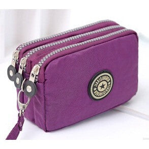 New fashion portable washed denim make-up  bag coin purse mini bag with three zipped   women wallets phone 16*9.5*5cm - Shopatronics - One Stop Shop. Find the Best Selling Products Online Today