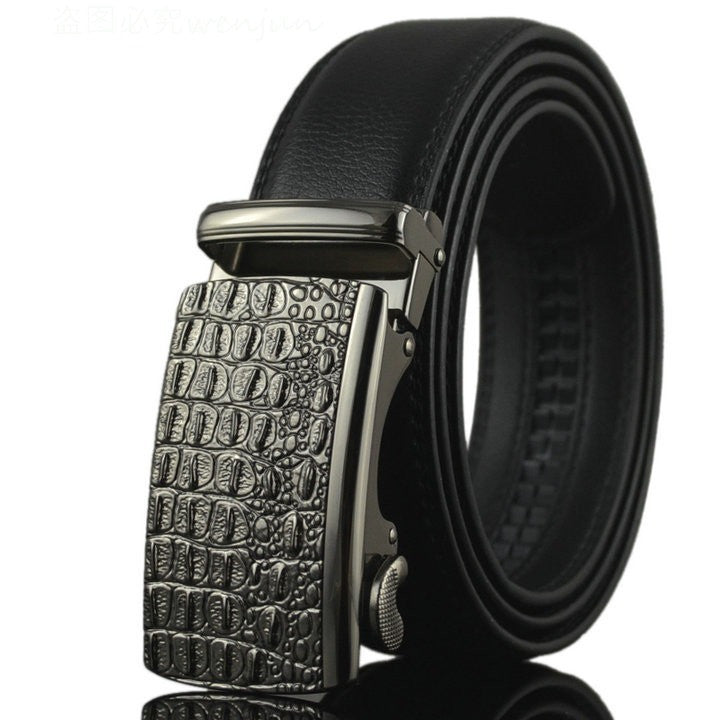 Belt 2016 Hot Fashion Cowhide Leather men belt Designer Luxury Famous High quality Automatic buckle men Belts for men - Shopatronics - One Stop Shop. Find the Best Selling Products Online Today