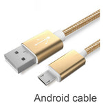 Bastec USB Data Charger Cable Nylon Braided Wire Metal Plug Micro USB Cable for iPhone 6 6s Plus 5s 5 iPad mini Samsung Sony HTC - Shopatronics - One Stop Shop. Find the Best Selling Products Online Today