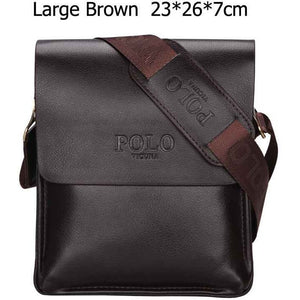 VICUNA POLO Famous Brand Leather Men Bag Casual Business Leather Mens Messenger Bag Vintage Men's Crossbody Bag bolsas male - Shopatronics