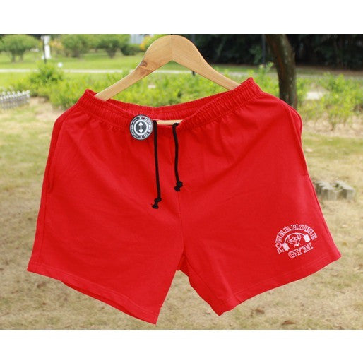"Men's Gym Shorts With Pockets Bodybuilding Short Men Golds Gym Shorts Weight Lifting Workout Clothing Cotton Training 5"" Inseam - Shopatronics"