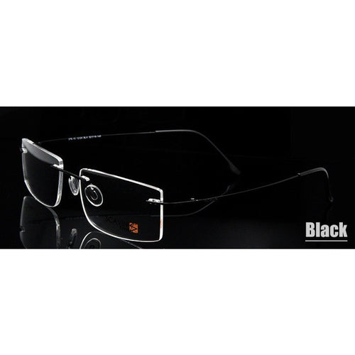 Computer Rimless Titanium Glasses Frame men Memory Eyeglass Frames 7 Colors Meet 1.56 1.61 Prescription Eyewear - Shopatronics - One Stop Shop. Find the Best Selling Products Online Today