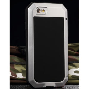 Luxury doom armor Dirt Shock Waterproof 4proof Metal Aluminum cell phone case For iphone 4 4s 5 5c 5s SE 6 Plus + Tempered glass - Shopatronics
