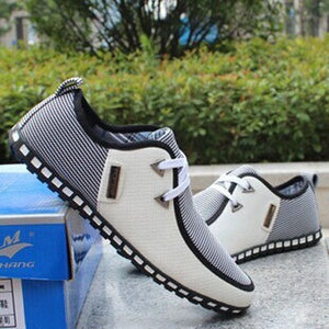 Spring breathable doug men loafers casual shoes increased within flats the British fashion lace up shoes - Shopatronics