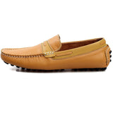 New Genuine Leather Men's Casual Loafers, Moccasins, Driving Slip On Shoes Breathable Flats For Men - Shopatronics