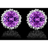 925 Sterling Sliver Fashion Jewelry 8MM Round 2 Carat Cubic Zirconia Silver Stud Earrings for Women - Shopatronics - One Stop Shop. Find the Best Selling Products Online Today