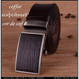 New cow genuine leather mens belts luxury automatic wide strap belt for men cintos cinturon hombre cinture - Shopatronics